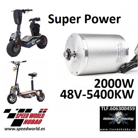 Motor 1600W scooter electrico